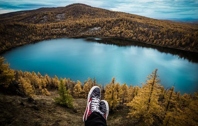 jezero na podzim