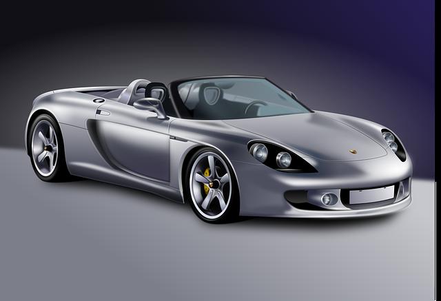 luxusní model auta